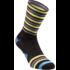 Full Stripe Sock - Black - Turquoise