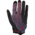 Women's Body Geometry Gel Long Finger Gloves - Acid Red - Line Fade