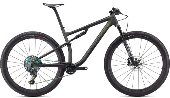 S-WORKS EPIC 2021 SATINGLOSS CARBONCOLOR RUN SILVER - GREEN CHAMELEON