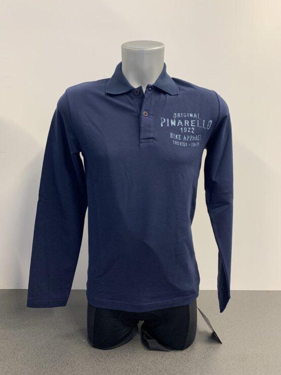 Pinarello Polo Blue Long Sleeve