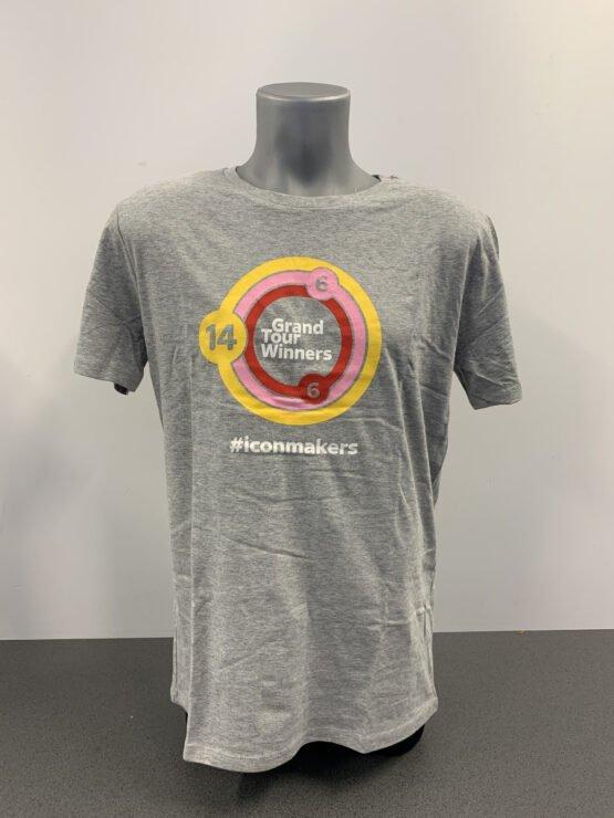 Pinarello T-Shirt Grand Tour Winner Grey